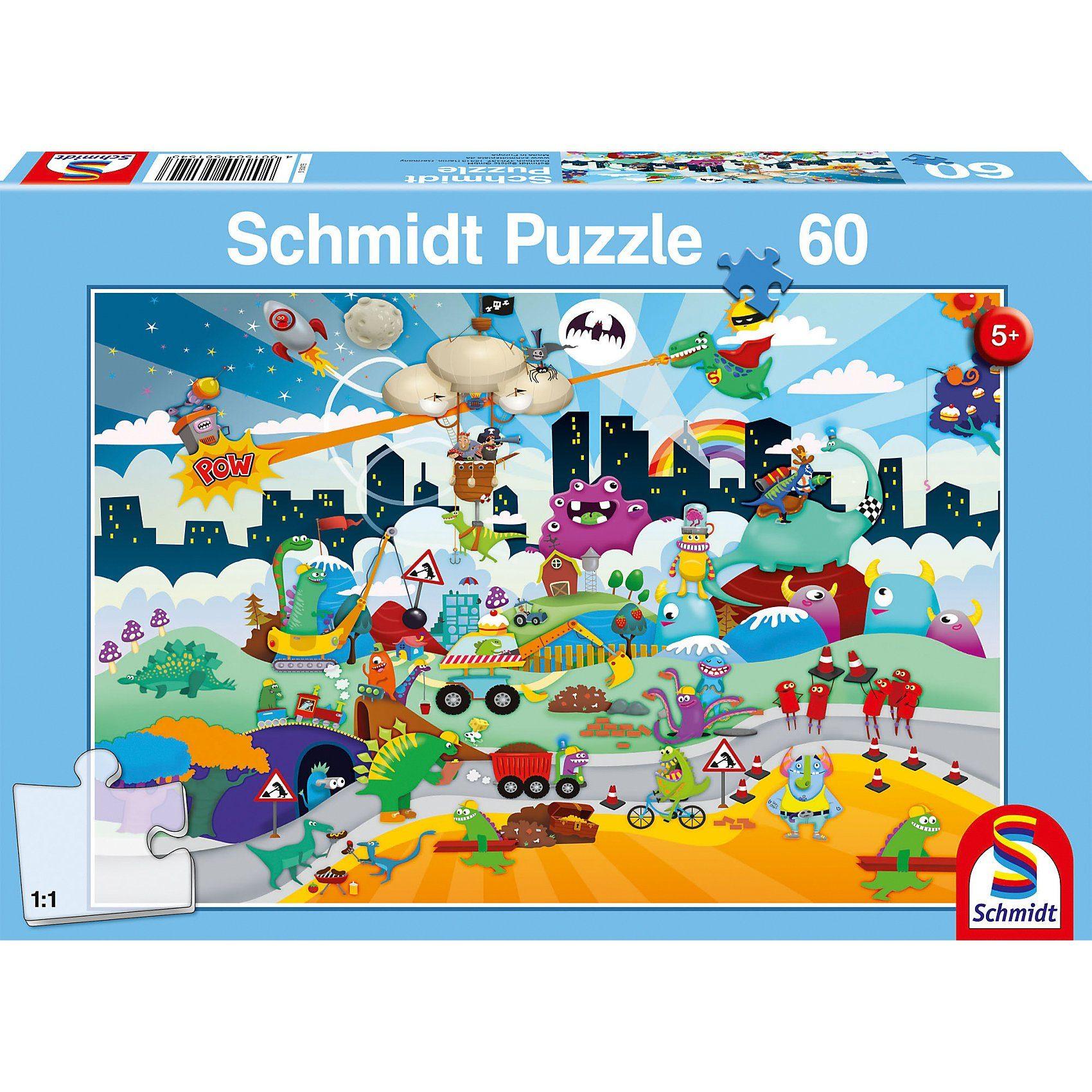Schmidt Spiele Puzzle Kleine Helden, 60 Teile