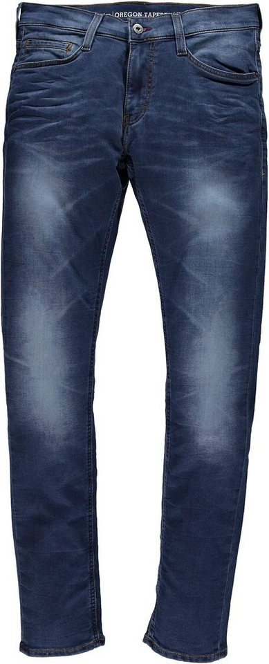 MUSTANG Stretchjeans »Oregon Tapered K« in dark used