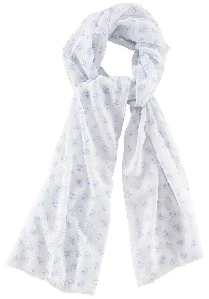 J. Jayz Modeschal mit Anker in weiß-blau