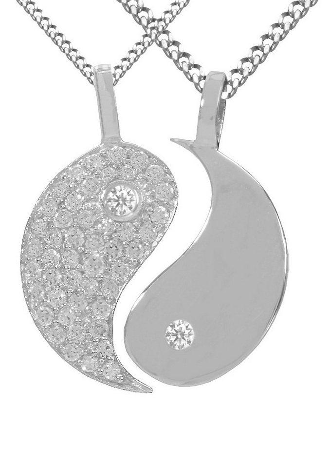 firetti Schmuckset, »Ying Yang« (4tlg.) - Partnerschmuck - Geschenk TIPP! in Silber 925