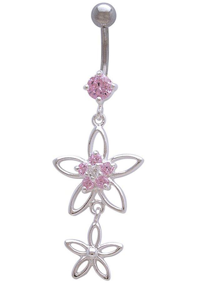 firetti Piercing »Blume / Blüten« mit Zirkonia