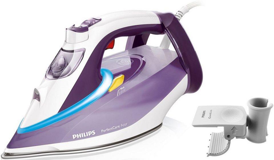 Philips Bügeleisen GC4928/30 PerfectCare Azur, T-IonicGlide Sohle, 3000 Watt in weiß / lila