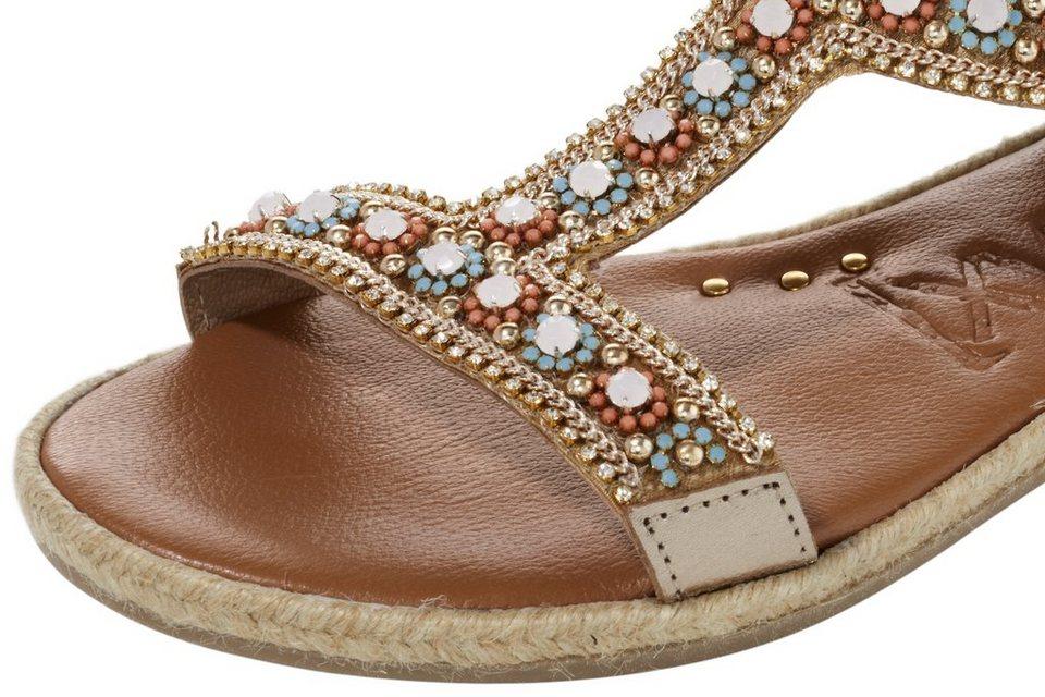 Sandalette in goldfarben