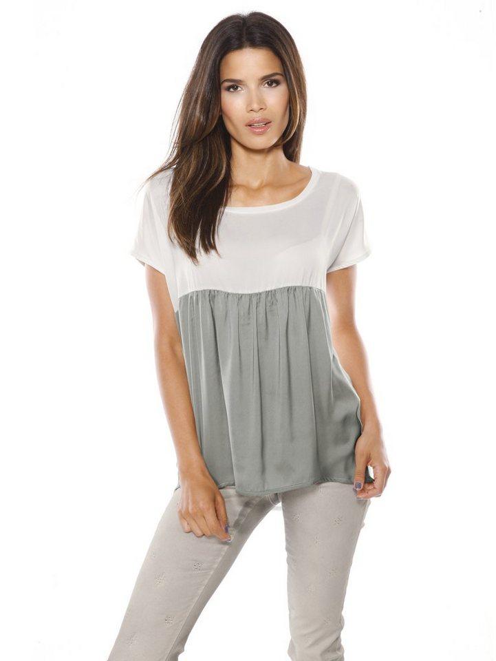 Blusenshirt in weiß/grau