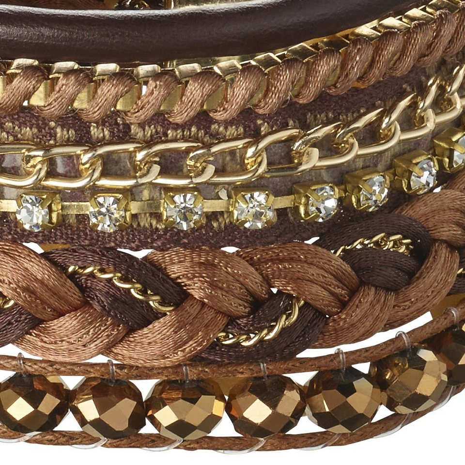Heine Armband in cognac/goldfarben