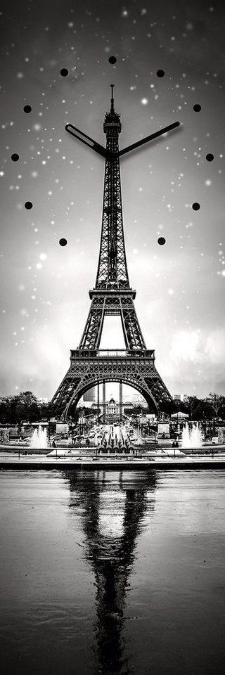 Eurographics, Wanduhr, »Paris Clock«, 20/60 cm in grau