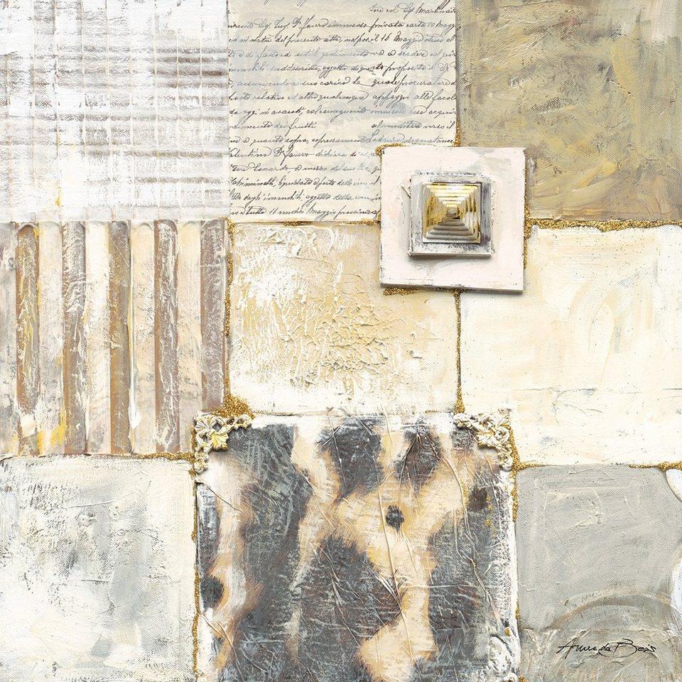 Eurographics, Leinwandbild, »Lucky III«, 30/30 cm in creme/gold