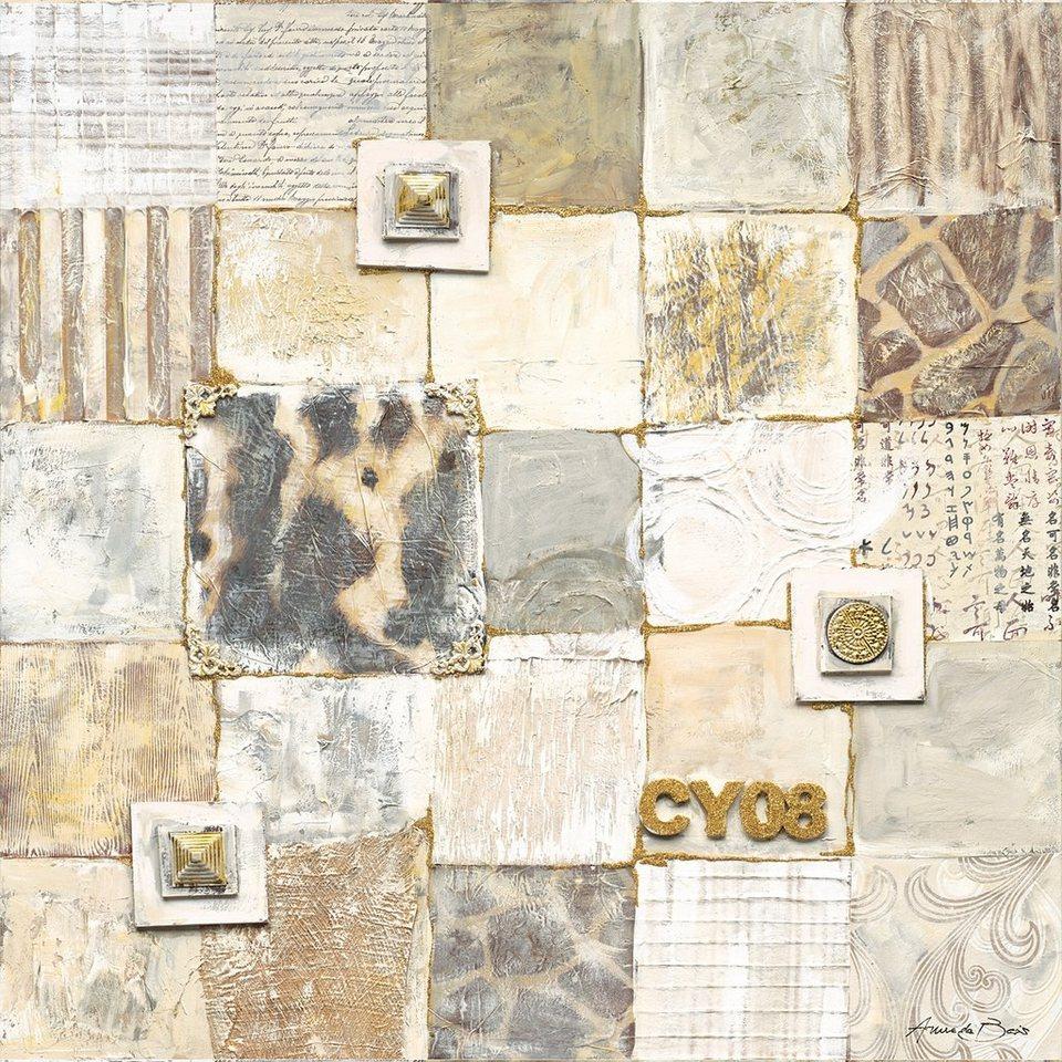 Eurographics, Leinwandbild, »Lucky I«, 80/80 cm in beige
