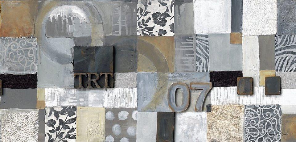 Eurographics, Leinwandbild, »Square Composition I«, 55/115 cm in grau
