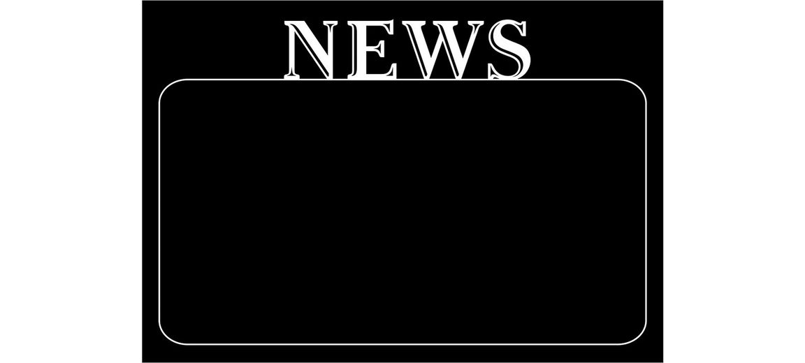 Eurographics, Black Board Sticker, »News«, 70/50 cm