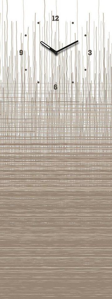 Eurographics, Glasmagnettafel mit Uhr, »Structure Board«, 30/80 cm in beige