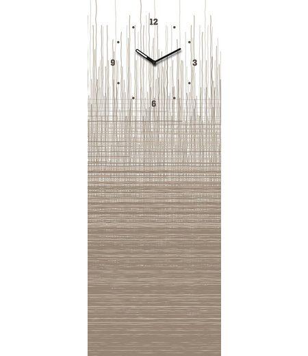 Eurographics, Glasmagnettafel mit Uhr, »Structure Board«, 30/80 cm