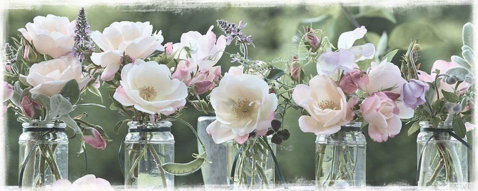 Eurographics, Bild aus Holzwerkstoff, »In The Garden«, 125/50 cm in rosa/grün