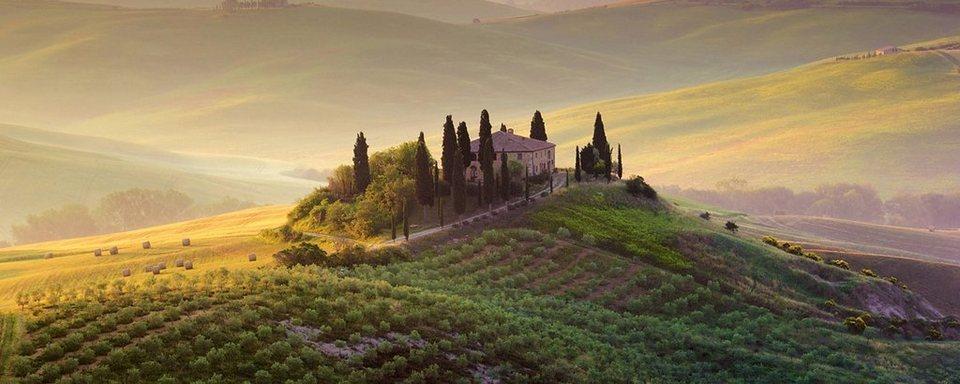 Eurographics, Glasbild, »Tuscany Garden«, 125/50 cm in bunt