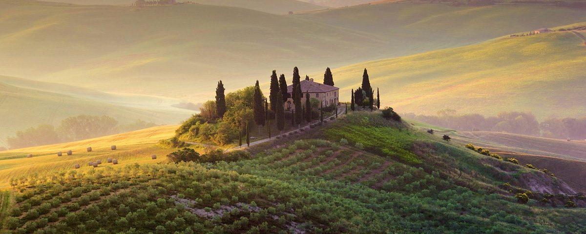 Eurographics, Glasbild, »Tuscany Garden«, 125/50 cm