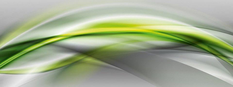 Eurographics, Glasbild, »Glow Waves«, 30/80 cm in grün