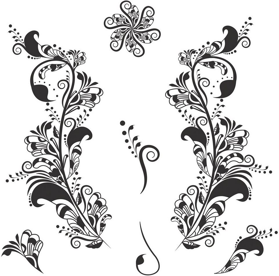 Eurographics, Deco Sticker, »Easiness«, 50/70 cm in schwarz/weiß