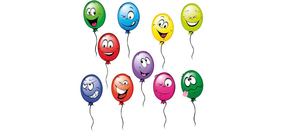 Eurographics, Window Sticker, »Funny Balloons II«, 25/70 cm