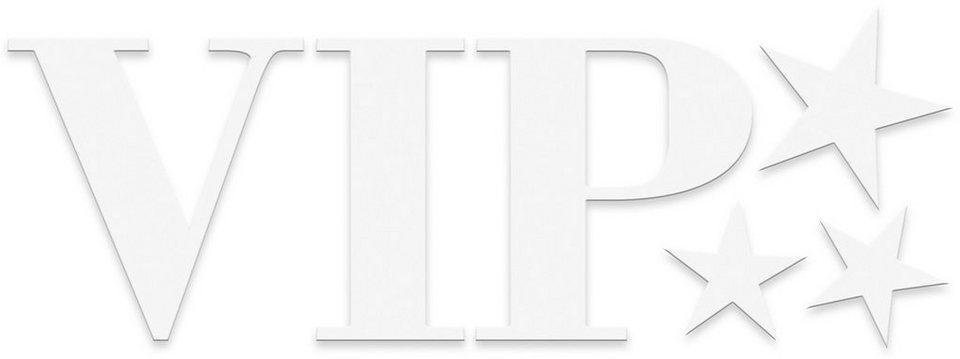 Eurographics, Dekobuchstaben, »VIP«, 60/25 cm in weiß