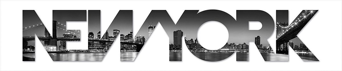 Eurographics, Dekobuchstaben, »New York«, 120/25 cm