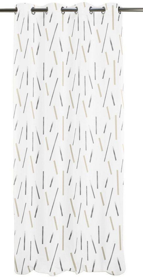 Vorhang, Apelt, »Lux«, mit Ösen (1 Stück) in natur