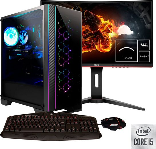 Hyrican »Nova SET2043« Gaming-PC-Komplettsystem (27 Zoll, Intel Core i5, GTX 1660 Ti, 16 GB RAM, 1000 GB HDD, 960 GB SSD, 2-tlg)