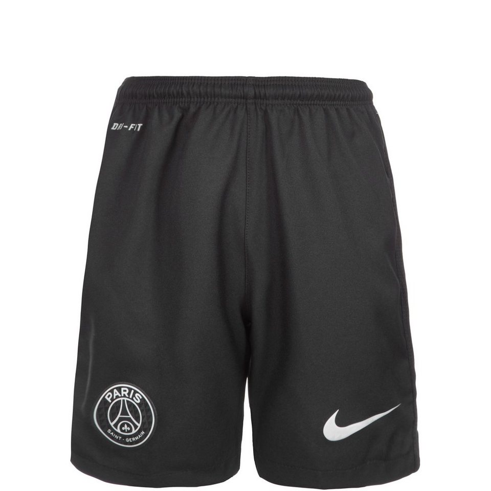 NIKE Paris Saint-Germain Short 3rd Stadium 2015/2016 Kinder in schwarz / silber