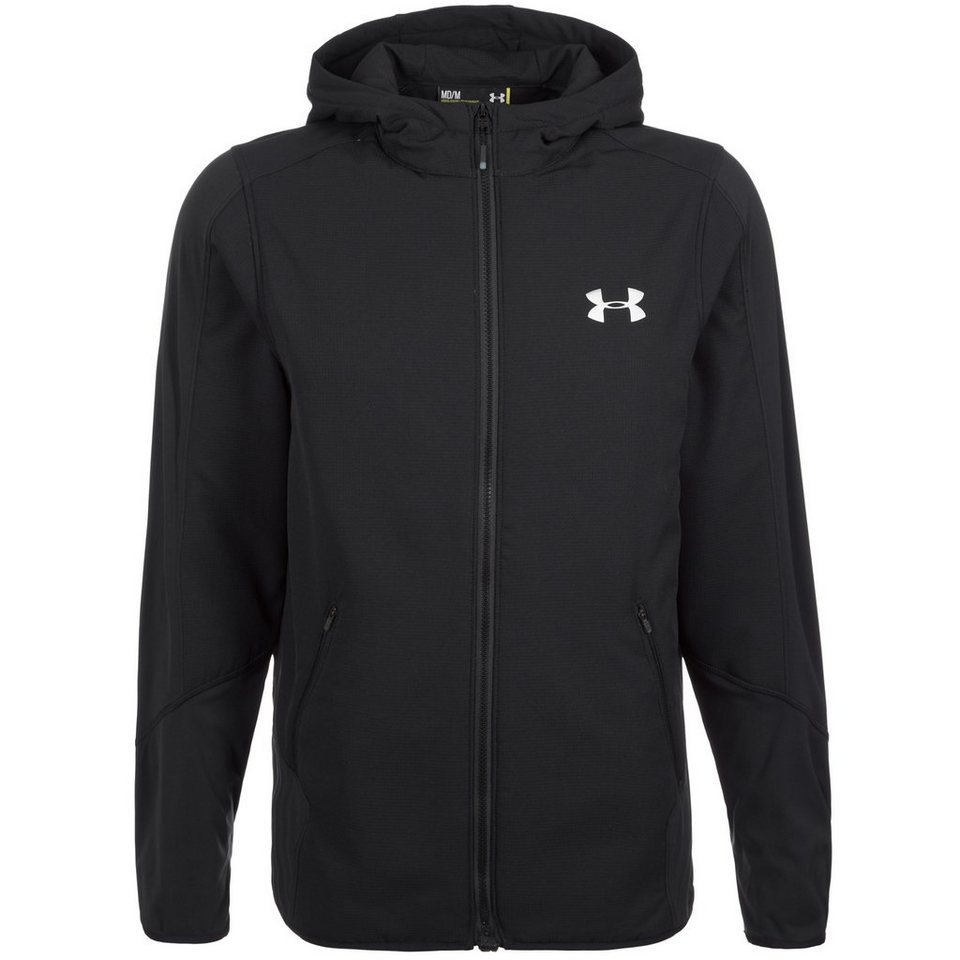 Under Armour® ColdGear Polartec Alpha Hybrid Trainingskapuzenjacke Herren in schwarz