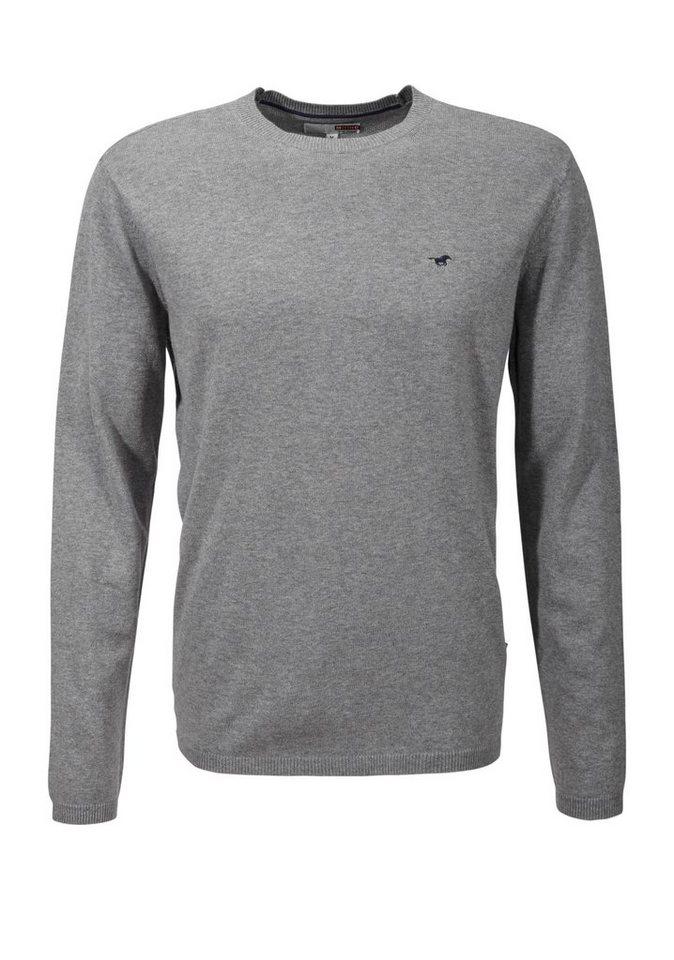MUSTANG Pullover in mid grey melange