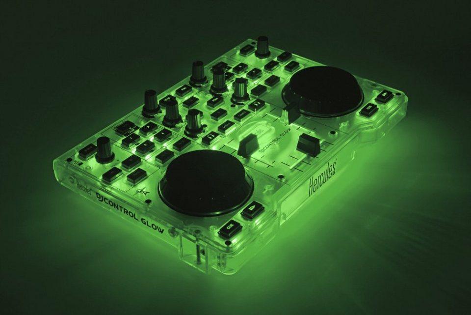 HERCULES DJ Control MP3 leuchtgrün (Glow) »(PC)«