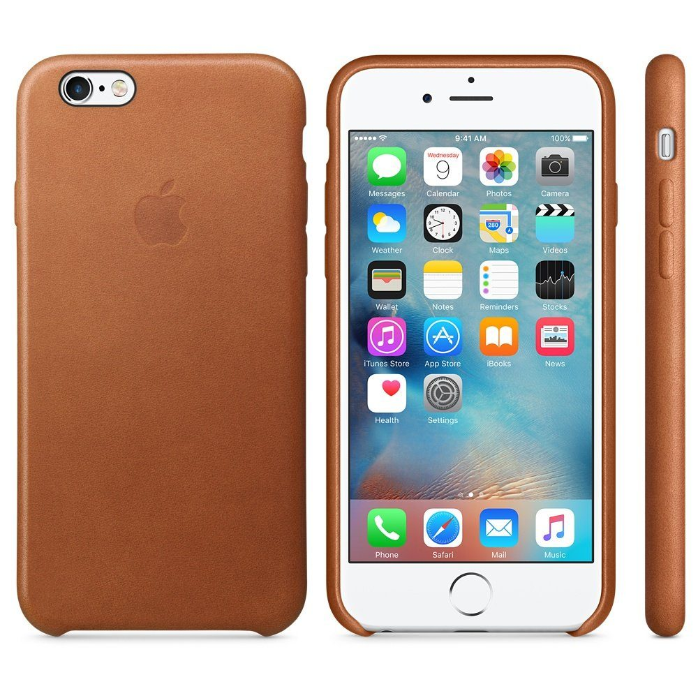Apple Case »iPhone 6s Leder Case Sattelbraun«
