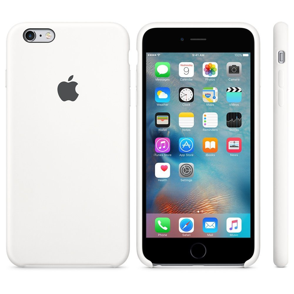 Apple Case »iPhone 6s Plus Silikon Case Weiß«