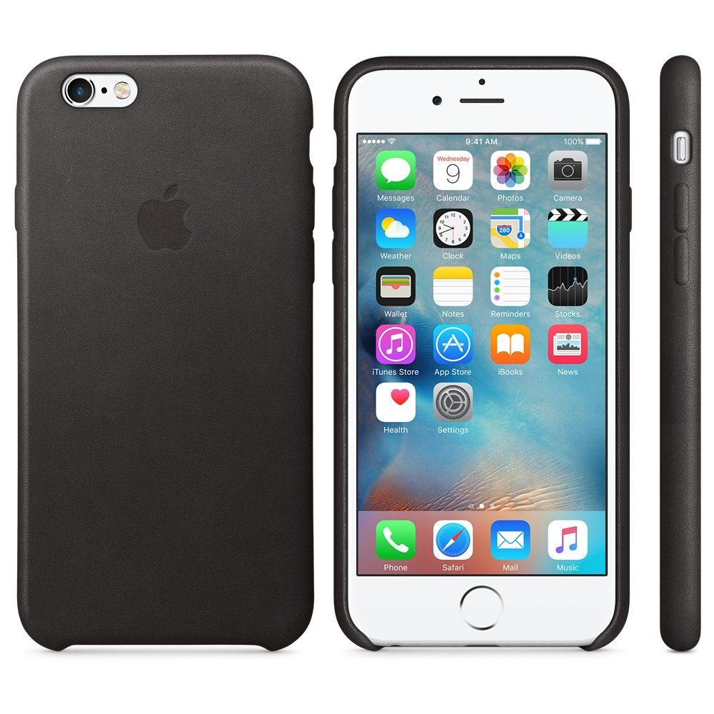 Apple Case »iPhone 6s Leder Case Schwarz«