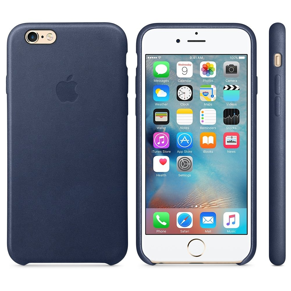 Apple Case »iPhone 6s Leder Case Blau«