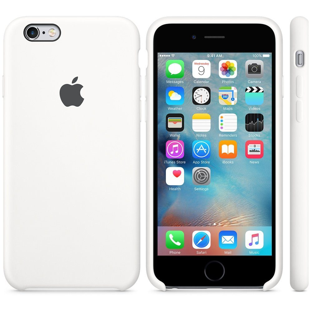 Apple Case »iPhone 6S Silikon Case Weiß«