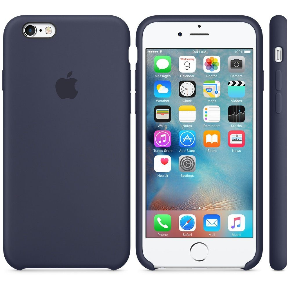 Apple Case »iPhone 6S Silikon Case Blau«