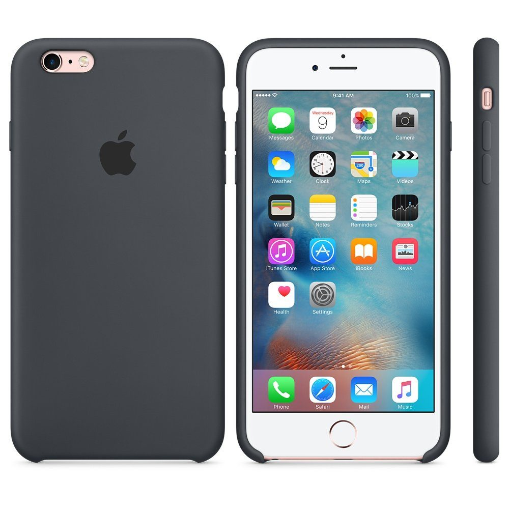 Apple Case »iPhone 6s Plus Silikon Case Grau«