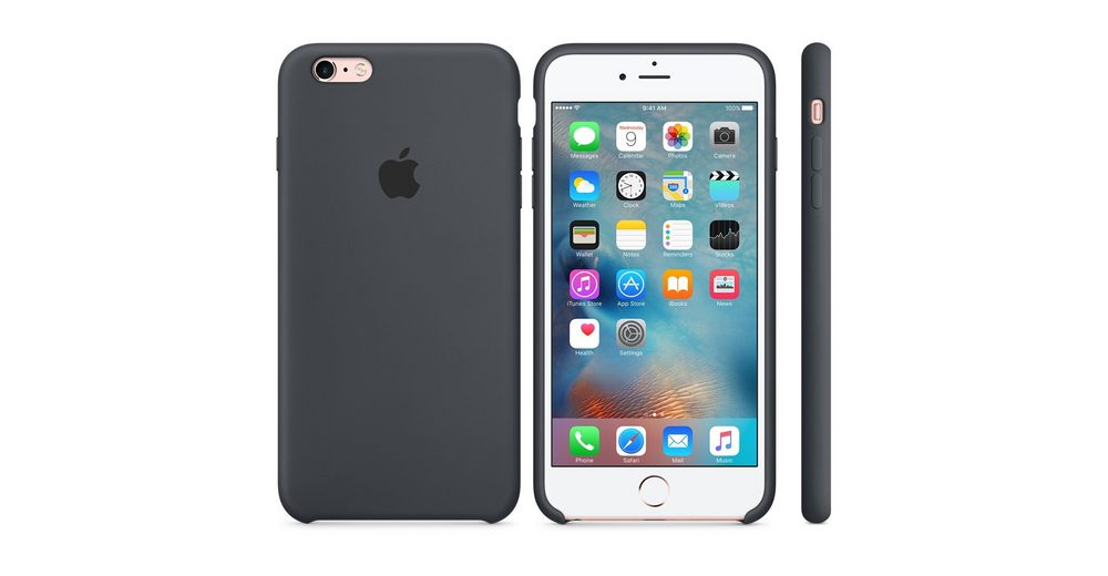 Apple Case »iPhone 6s Plus Silikon Case Grau«