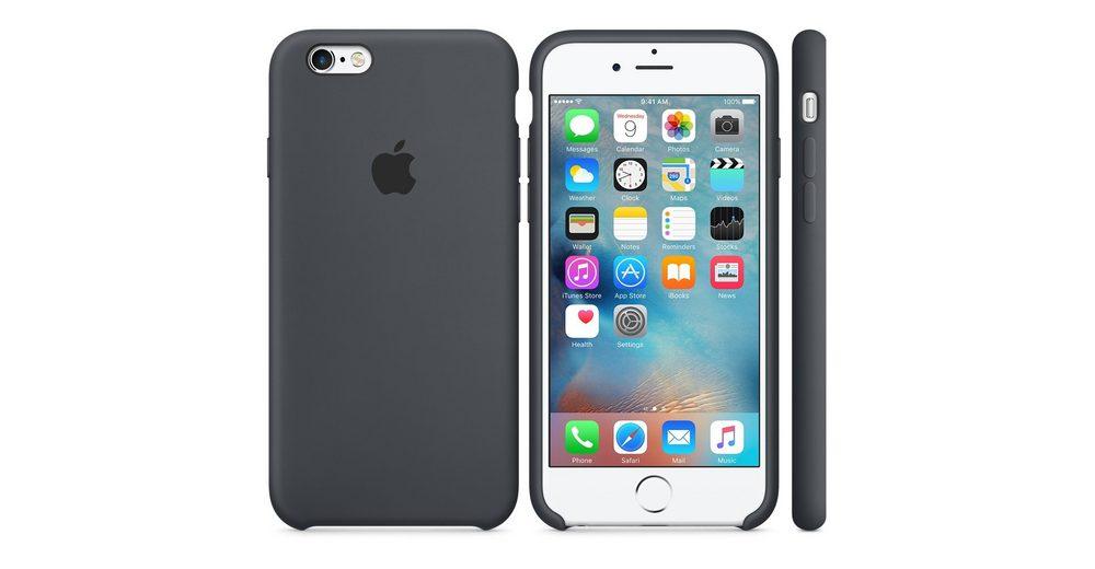 Apple Case »iPhone 6S Silikon Case Grau«
