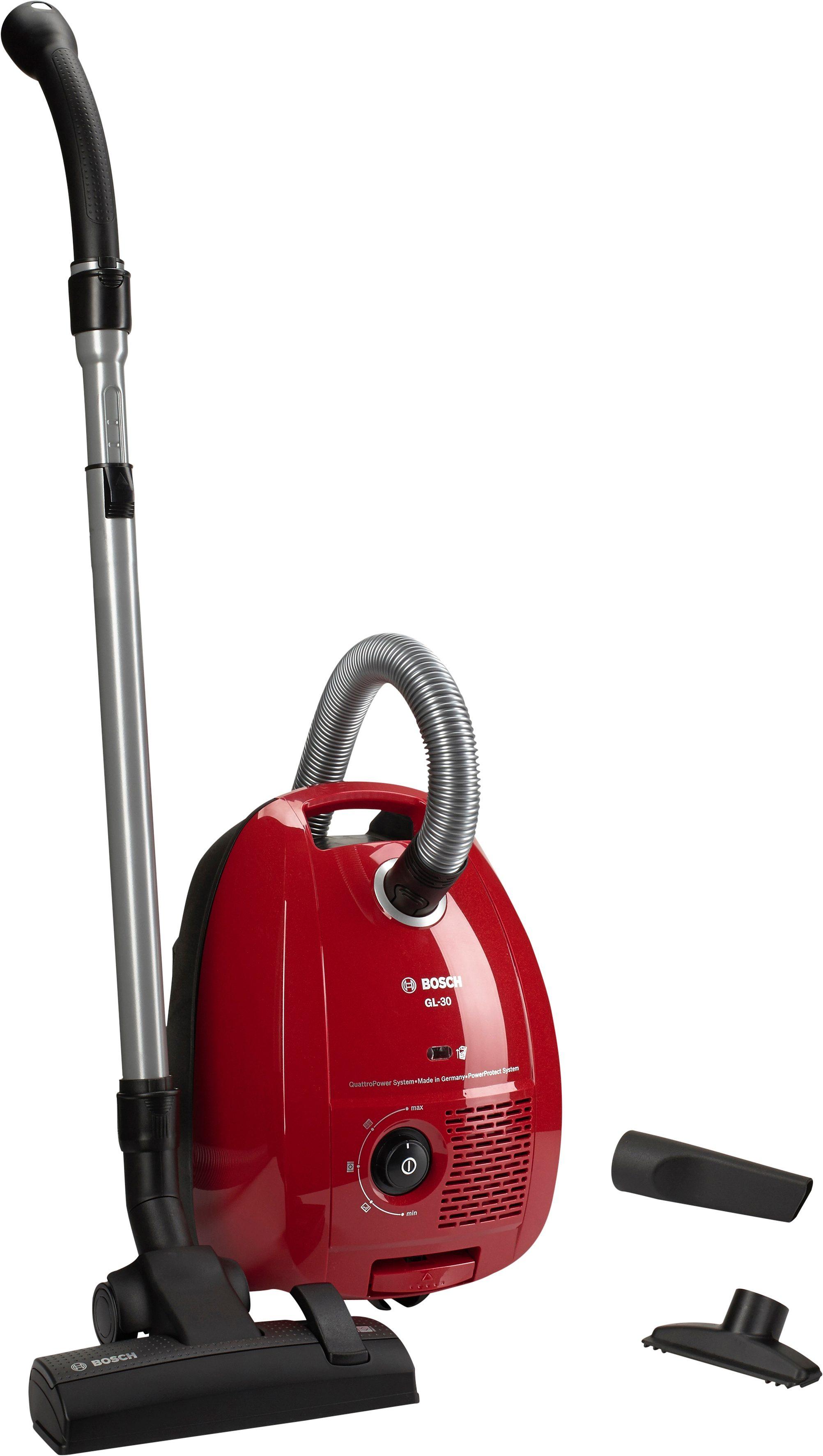 Bosch Bodenstaubsauger GL-30 mit Staubbeutel BGL3A310, kirschrot-metallic, Energieeffizienzklasse A