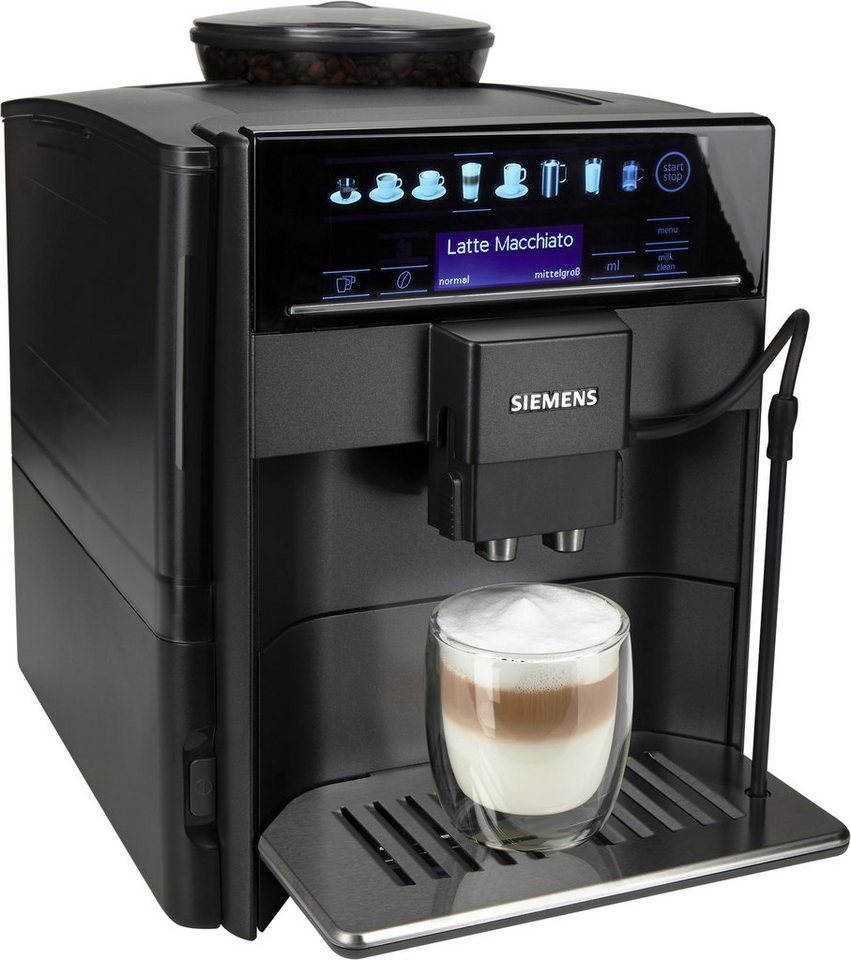 Siemens Kaffeevollautomat EQ.6 series 400 TE604509DE, mit OneTouch-Double-Cup-Funktion in anthrazit/metallic