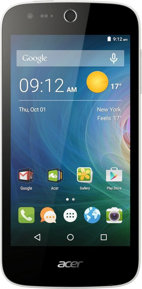 Acer Liquid Z330 Smartphone, 11,3 cm (4,5 Zoll) Display, LTE (4G), Android 5.1 Lollipop in weiß