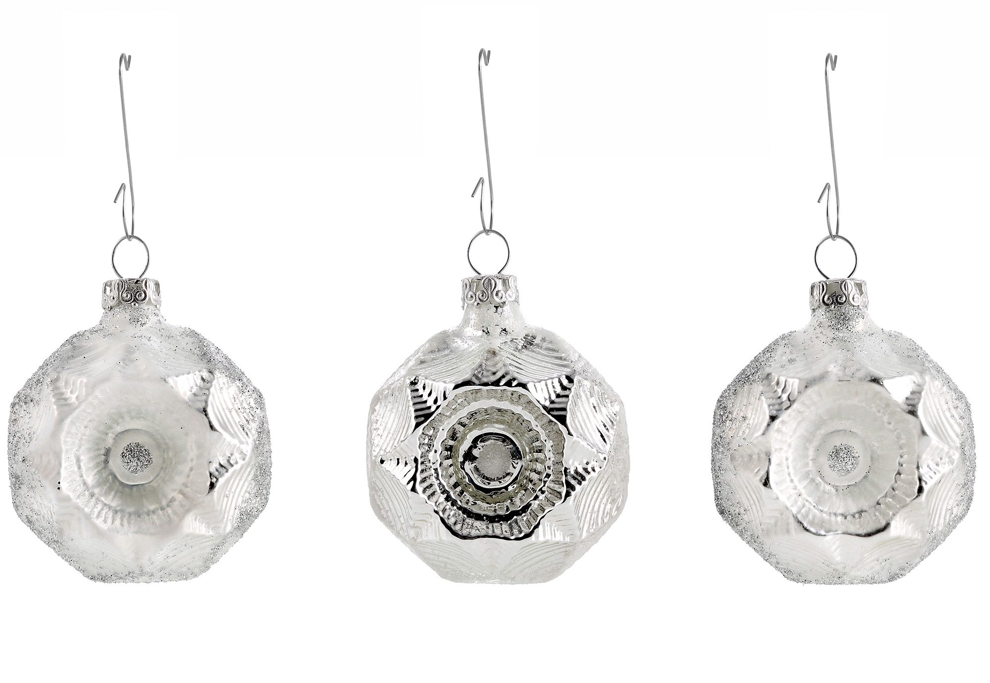 Thüringer Glasdesign Set: TGS-Christbaumschmuck Medaillons, »Eisprinzessin« (6tlg).