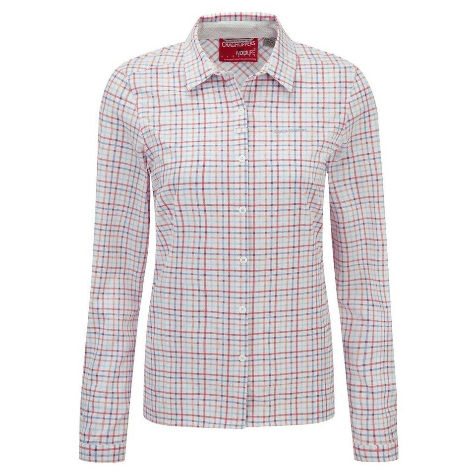 Craghoppers NosiLife Langarm Bluse Zecken und Insektenschutz »Khahi « in Rose Pink Combo