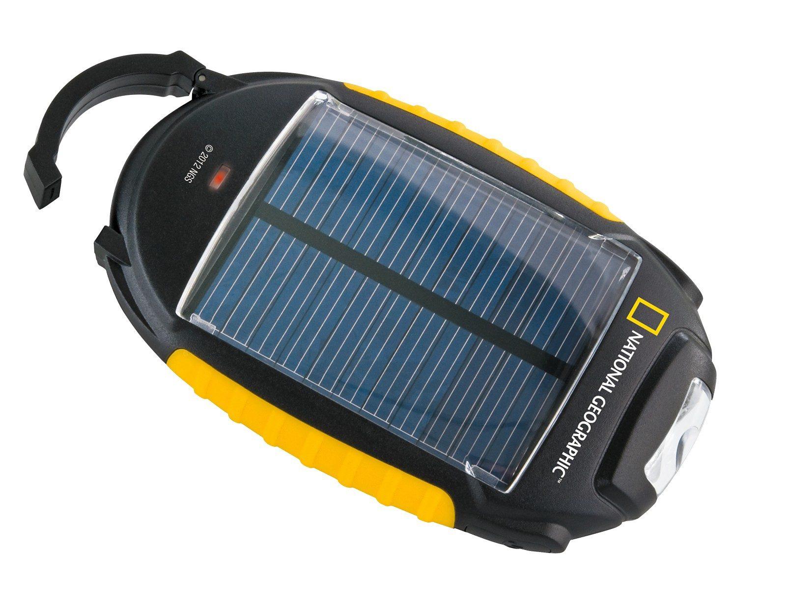 BRESSER Ladegerät »NATIONAL GEOGRAPHIC Solar-Ladegerät 4-in-1«