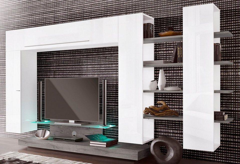 Lc wohnwand 4 tlg breite 342 cm online kaufen otto for Wohnwand italian design