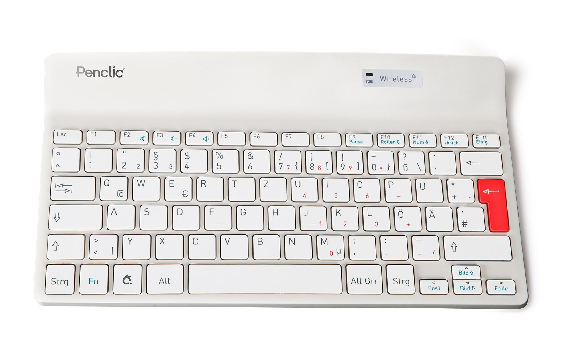 PENCLIC Mini Keyboard »K2 wireless weiß«