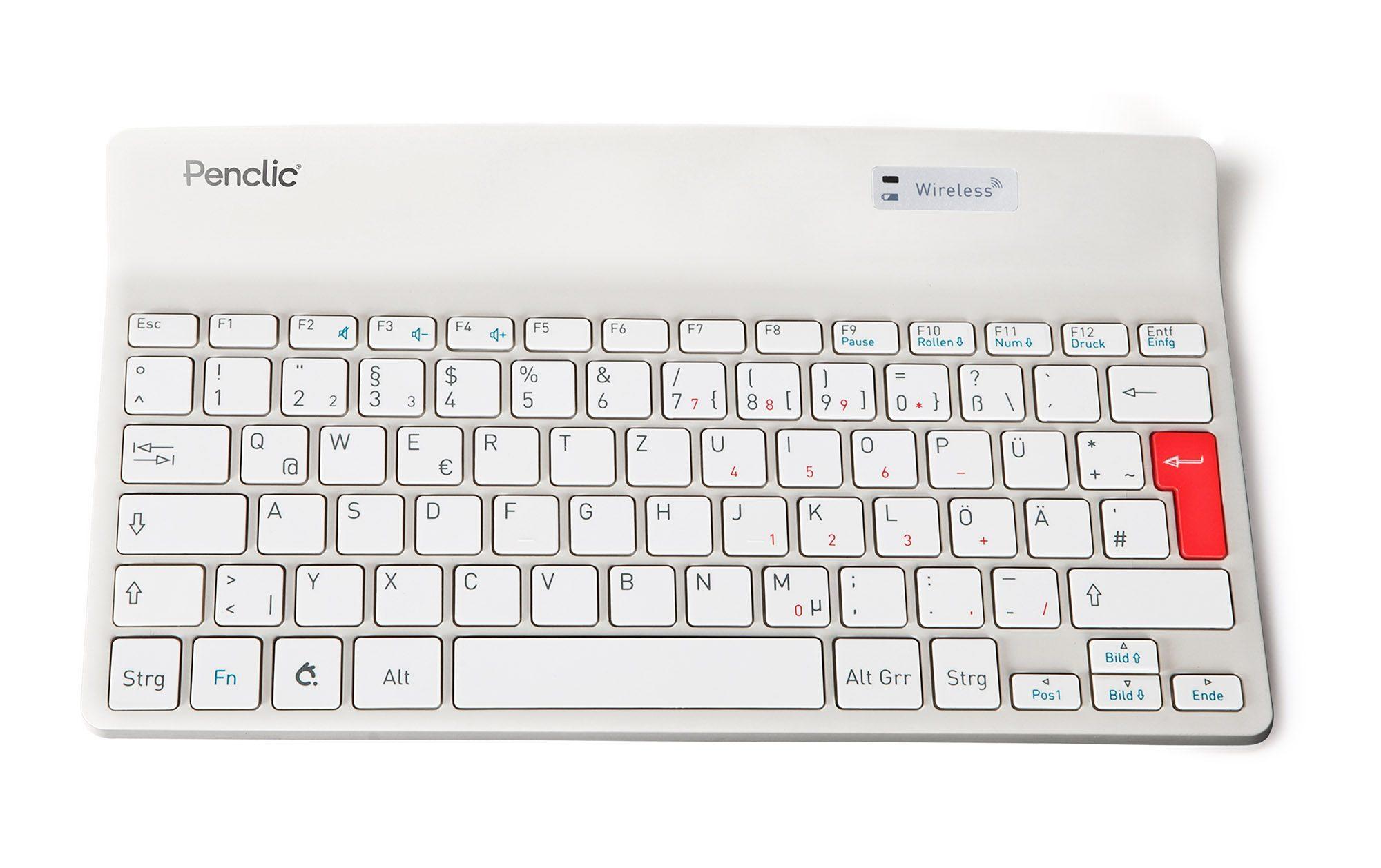 PENCLIC Mini Keyboard »K2 wireless weiß«