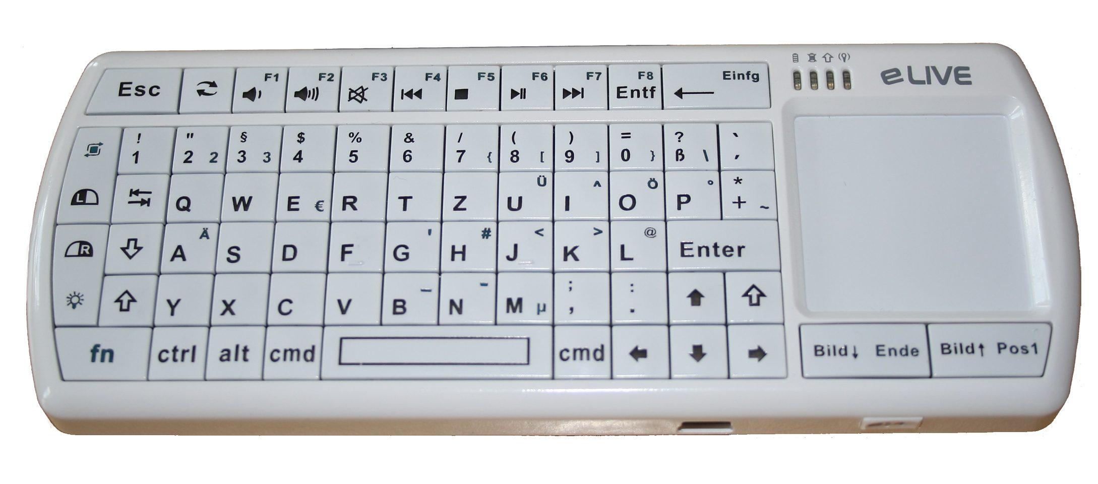 ELIVE Micro Tastatur »Bluetooth 2.0 Micro Tastatur MAC«
