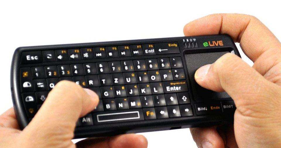 ELIVE Micro Tastatur »Bluetooth 2.0 Micro Tastatur LED«